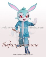 Blue Rabbit Mascot Costume Cartoon Fursuit Fancy Dress Adult Halloween free shipping