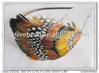 free shipping , 2011 new fashion feather headband, hairband, gift, party headband