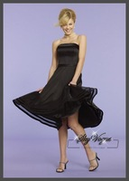 ML721*Custom Made 2014 Vintage Sweet Cheap Black Custom Made A-Line Short Bridesmaid Dresses