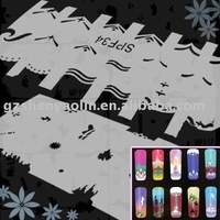Free shipping - Set of 20pcs Airbrush Paint Painting Template FOR Nails Manicure/Pedicure - NA397