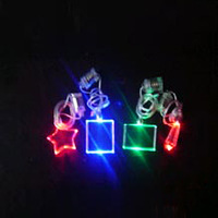 Flashing led light up Necklaces with logo for promotion gift