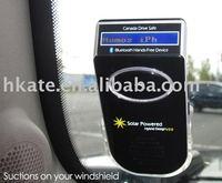 10pcs/lot Solar Powered Bluetooth Car Kit with Name Display & DSP