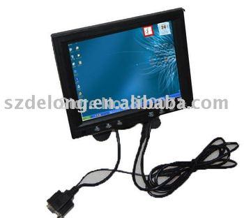 "Free Shipping, Brand New : 8""lcd touch monitor,car pc monitor,vga monitor"