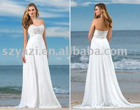 2010 white wedding dress w3405