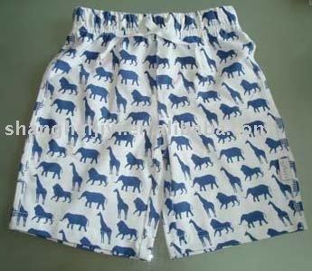 Boys pants: drawstring boxer shorts, cotton spandex. Animal print. Perfect for Xmas!