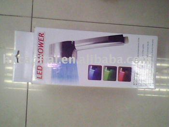 Bathroom Illuminated RGB 3 Colors LED Shower Head Light