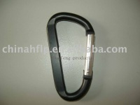 flat aluminium carabiner in black color can as pointed the colors from the PMS