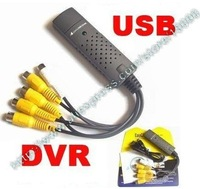 Wholesale-Easycap 4 CHANNEL USB DVR Video Audio Capture Adapter Easy Cap HK Post Free shipping+Hot Selling!!!