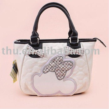 Cute Mickey  Handbag,Brand new PU leather handbag,fashion handbag, ladies' handbag & Free shipping
