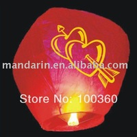 lanterns with red heart