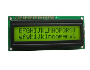 character LCD modules 16x2 with LED backlight Y-G or Blue-white STN