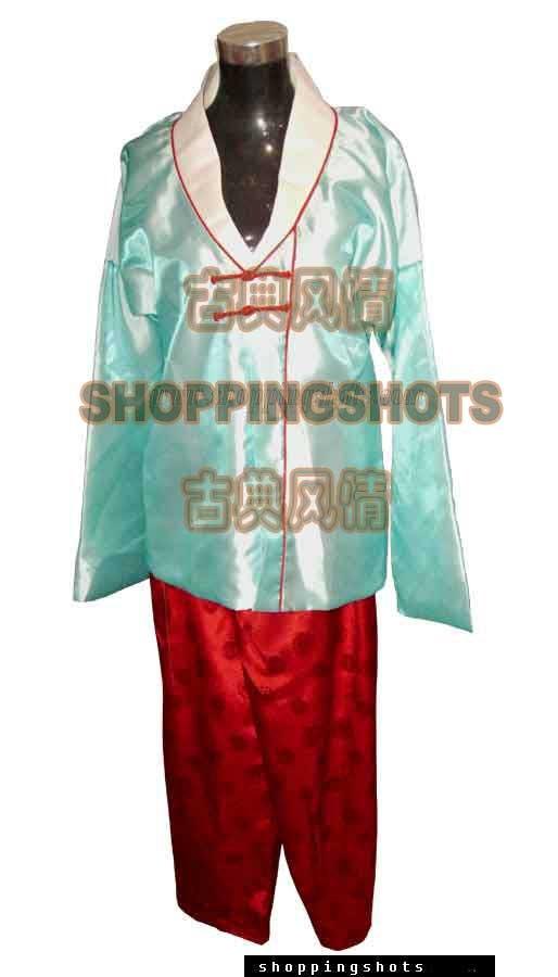 Coréen vêtements de mariage robe de danse hanbok 5b1722 bleu, livraison gratuite