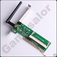 WiFi 54/108b/g Wireless LAN Mini PCI to Adapter  #9749 free shipping