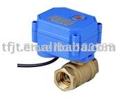 Motorized ball valve,1/2'' brass valve,3-6V,12V or 24V