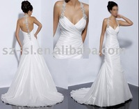 Pure bridal wedding dress gown taffeta sl-823