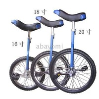 1pcs/lot Size: 16 inch steel wheels unicycle one wheel bike Suitable height 1.15-1.55m free shipping