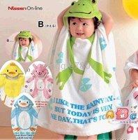 New style Baby bath Robe with Cartoon Terry Bathrobe, bath towel Hooded 12 Pieces