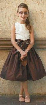 Ball Gown Scoop Knee- Length Flower Girl Dresses 2009 Style SKU510155