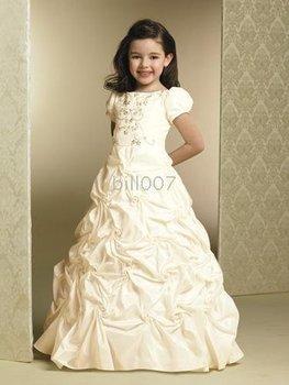 Ball Gown Scoop Floor- Length Flower Girl Dresses 2009 Style SKU510111