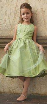Ball Gown Scoop Knee- Length Flower Girl Dresses 2009 Style SKU510156