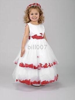 Ball Gown Scoop FloorLength Flower Girl Dresses 2009 Style SKU510190