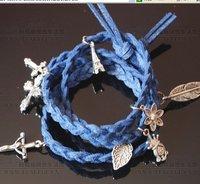wholesales--50pcs/lot blue ,white etc.18 colors handmade bracelet/fashion bracelet/charm bracelet can mix order + free shipping