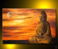 High Quality Modern Buddha Abstract Oil Painting on Canvas Art picture on wall