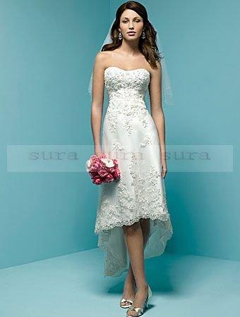 Wedding Dresses Hi Low Hemline 104