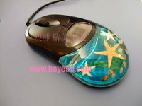 Free Shipping Sealife(starfish) in 3D USB Optical Computer Mouse For Desktop And Laptop.XMS Gift Mouse,New Year Business Gift