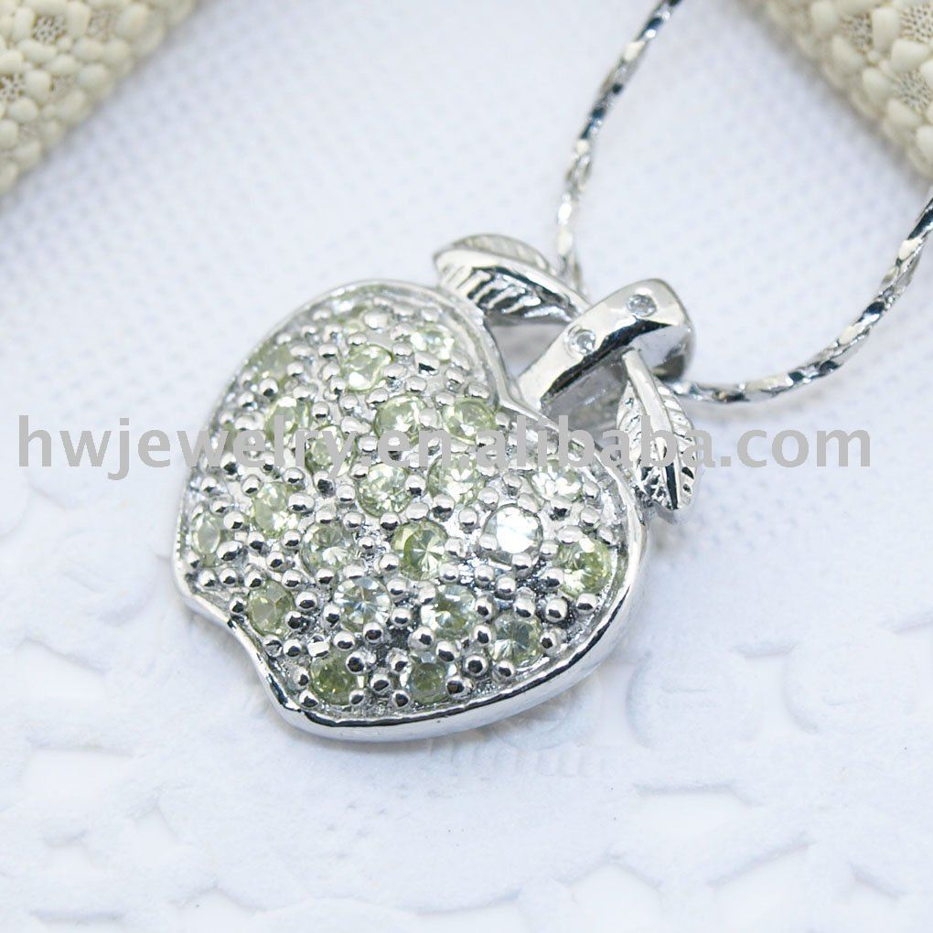 silver apple pendant(China (Mainland))