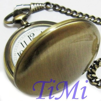 Nice Vintage Design Bronze quartz Style Pocket Watch