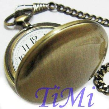 Nice Vintage Design Bronze quartz Style Pocket Watch