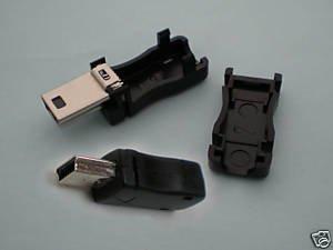 100 x Mini USB Plug Male Socket Connector 10Pin Plastic