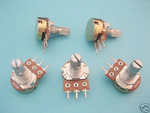 30 x B250K Potentiometer Pots Shaft S 15mm 3 pin/ Feet(China (Mainland))
