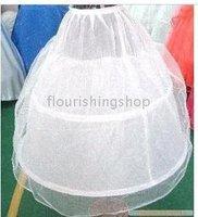 2-Hoop Wedding Dress Crinoline/Petticoat/Underskirt with organza 001