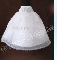 3-hoop 2 layers Wedding Dress Crinoline/Petticoat/Underskirt with lace hem