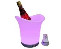 LED Ice Bucket;Seven color changing with remote controller, and fix color function