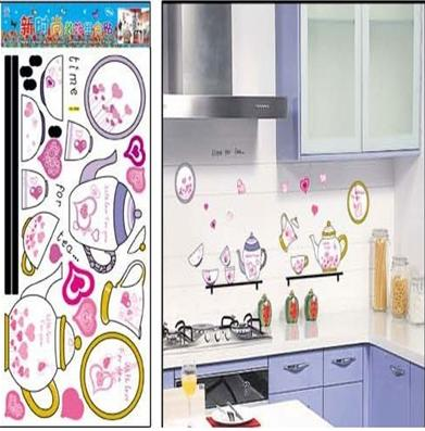 Decorative DIY Home Decor, kitchen Wall Stickers,Wall Decals,HL958,kitchen appliance(China (Mainland))