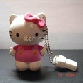 Free shipping 10pcs/lot,32GB 16GB 8GB 4GB 2GB 3D Hello Kitty USB Flash Drive stick U-Disk thumb pen drive
