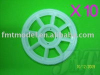 F00212-10, 10 x White New main drive gear for ALL TREX T-REX  450 Rc Helicopter + Free shipping