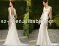 SL-1916 Elegant imitated Silk  Bridal Dress