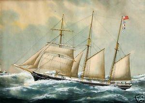 """Pintura a óleo barco grande vela e oceano ondas 36 """"(China (Mainland))"""