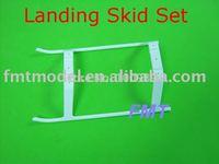 F00625, 1 X White Plastic Landing Skid Set For T-REX 450 SE V2 V3 Sport
