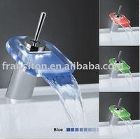 Led shower faucet