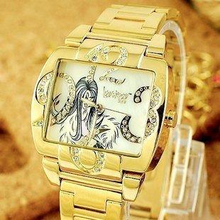 wholesale fashion watch/brand watch LuscigusGirls-Colorful new diamond watch 9681