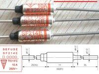 200pcs Microtemp Thermal Fuse 216 degree TF Cutoff SF214E