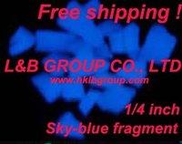 Sky-blue glow rubble/glow fragment  Free shipping