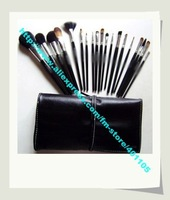 wholesale--5sets/lot black 19pcs per set powder brush/make up brush/cosmetic accessory with pretty pouch+ free shipping & gift