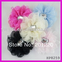 Free shipping! Fashion chiffon flower hair claw