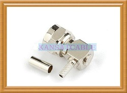 F male crimp right angle connector ,match RG316 RG174 RG178(China (Mainland))